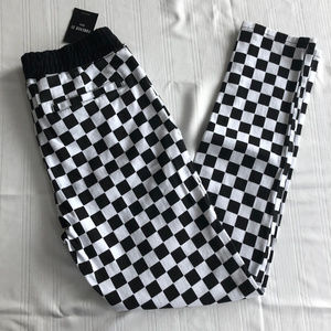 Forever 21 Black and White Checkered Pants